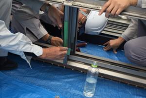 ⑱方立散水実験